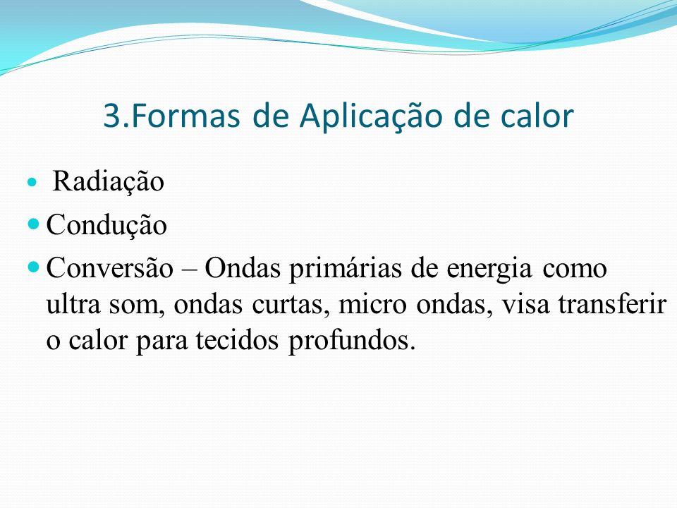 3.Formas de Aplicação de calor