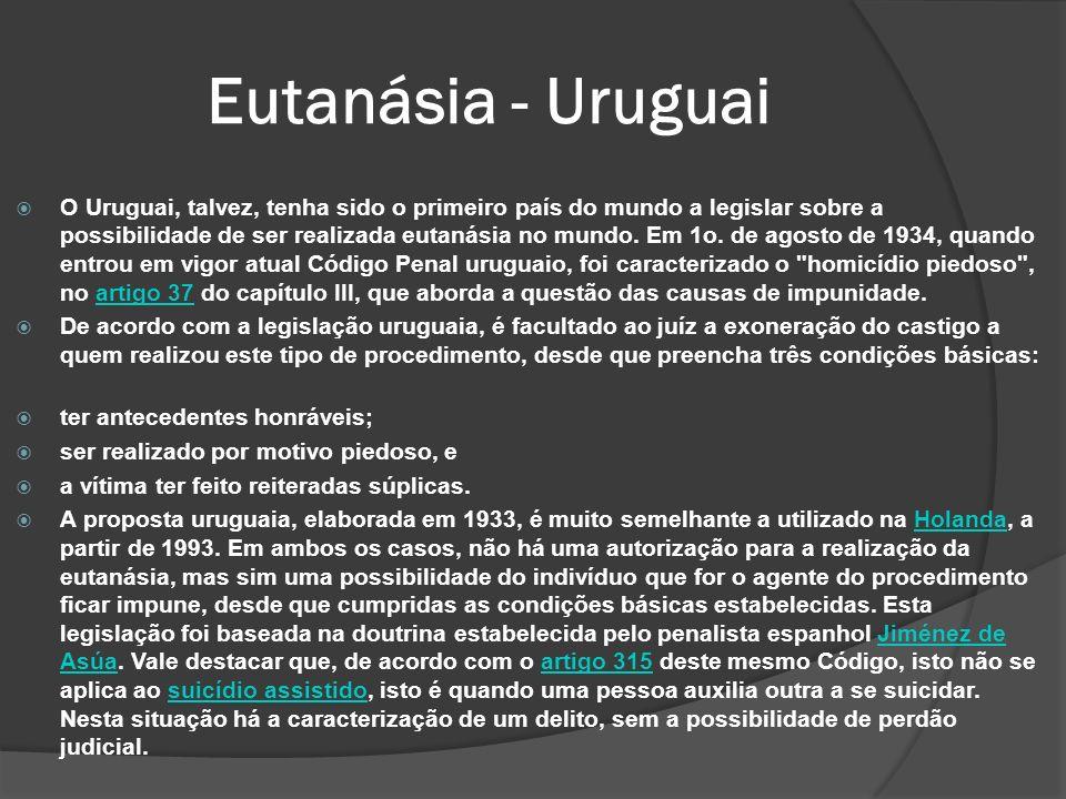 Eutanásia - Uruguai
