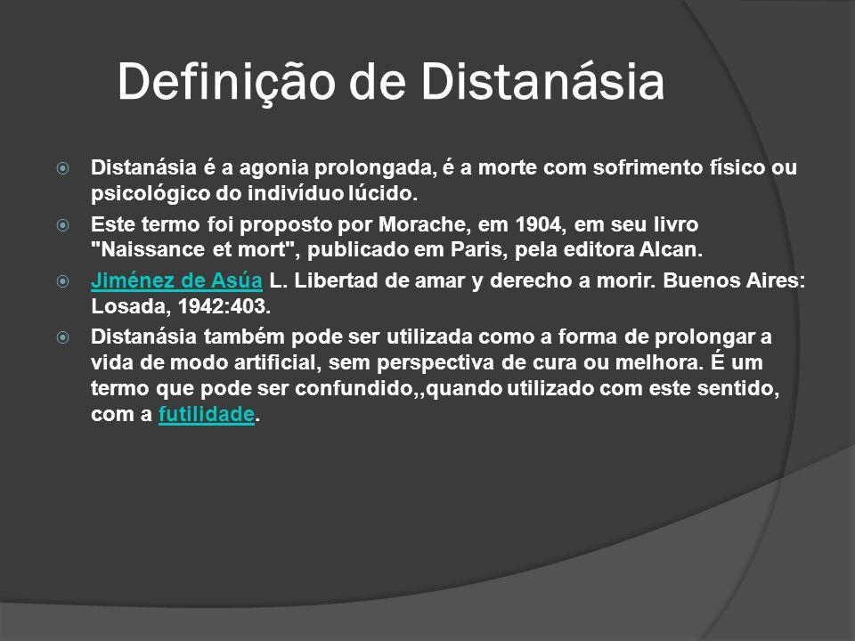 Definição de Distanásia