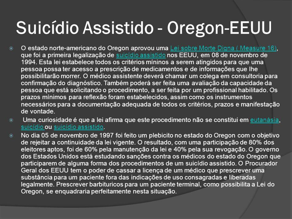 Suicídio Assistido - Oregon-EEUU