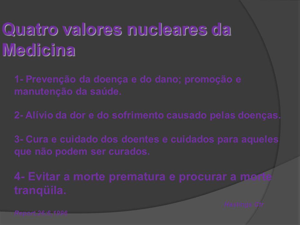 Quatro valores nucleares da Medicina