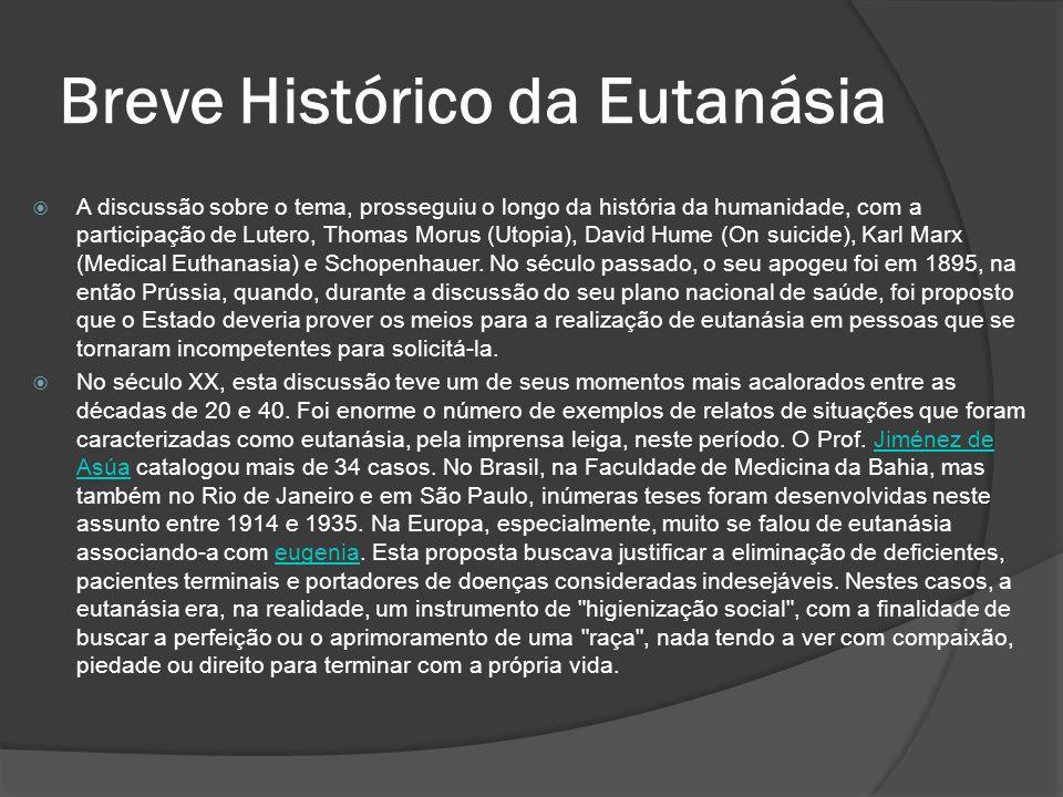 Breve Histórico da Eutanásia