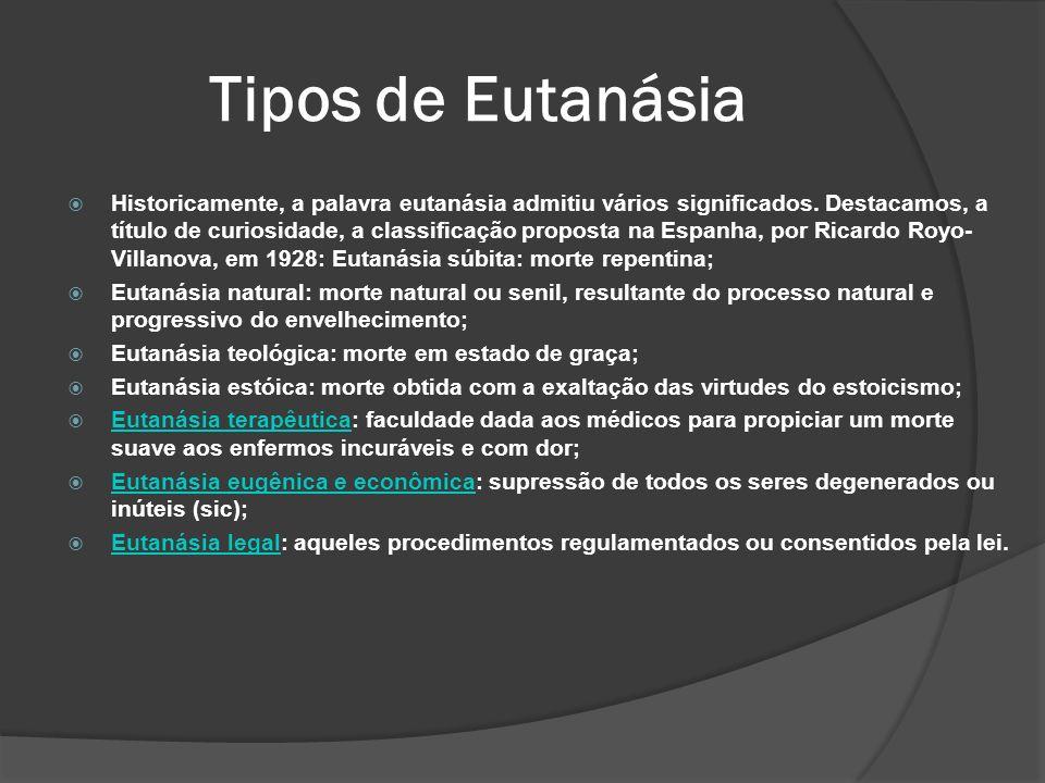 Tipos de Eutanásia