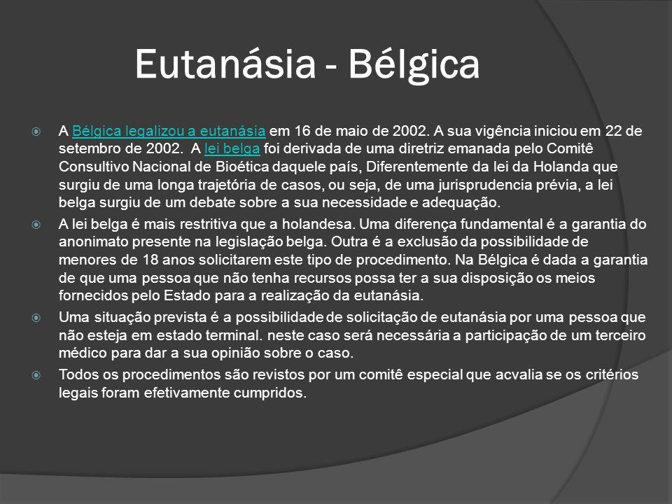 Eutanásia - Bélgica