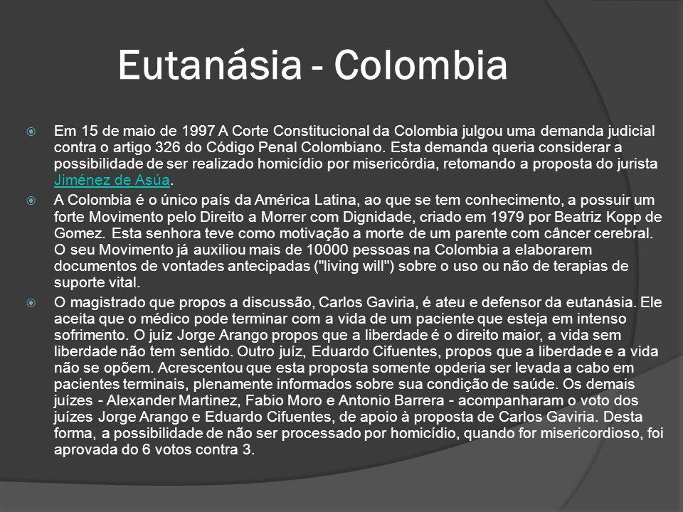 Eutanásia - Colombia
