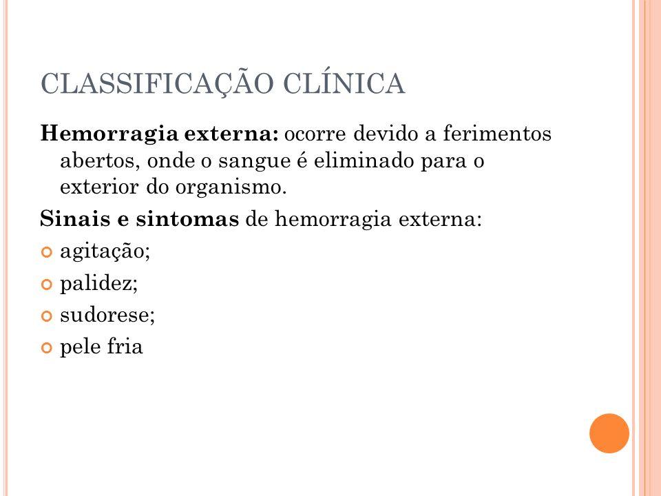 CLASSIFICAÇÃO CLÍNICA