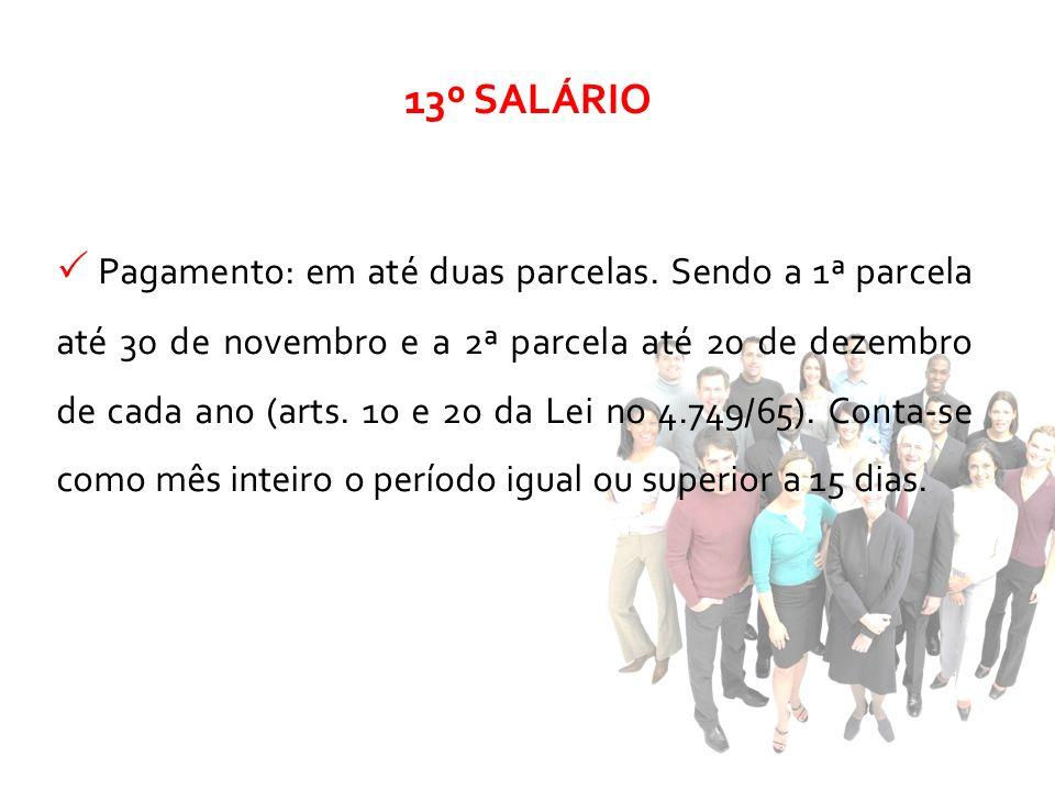 13º SALÁRIO