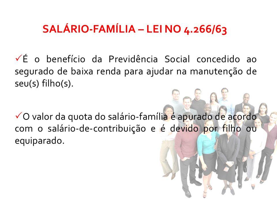 SALÁRIO-FAMÍLIA – LEI NO 4.266/63