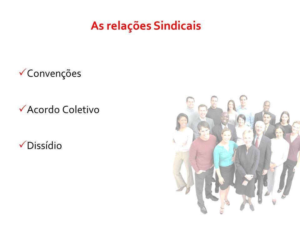 As relações Sindicais Convenções Acordo Coletivo Dissídio