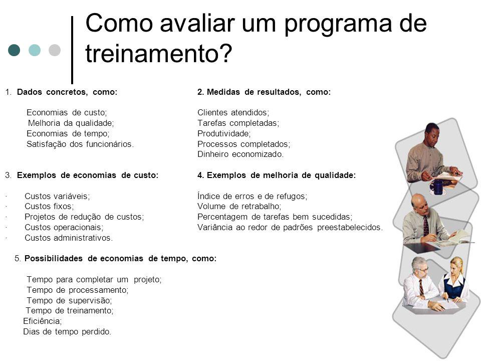 Como avaliar um programa de treinamento