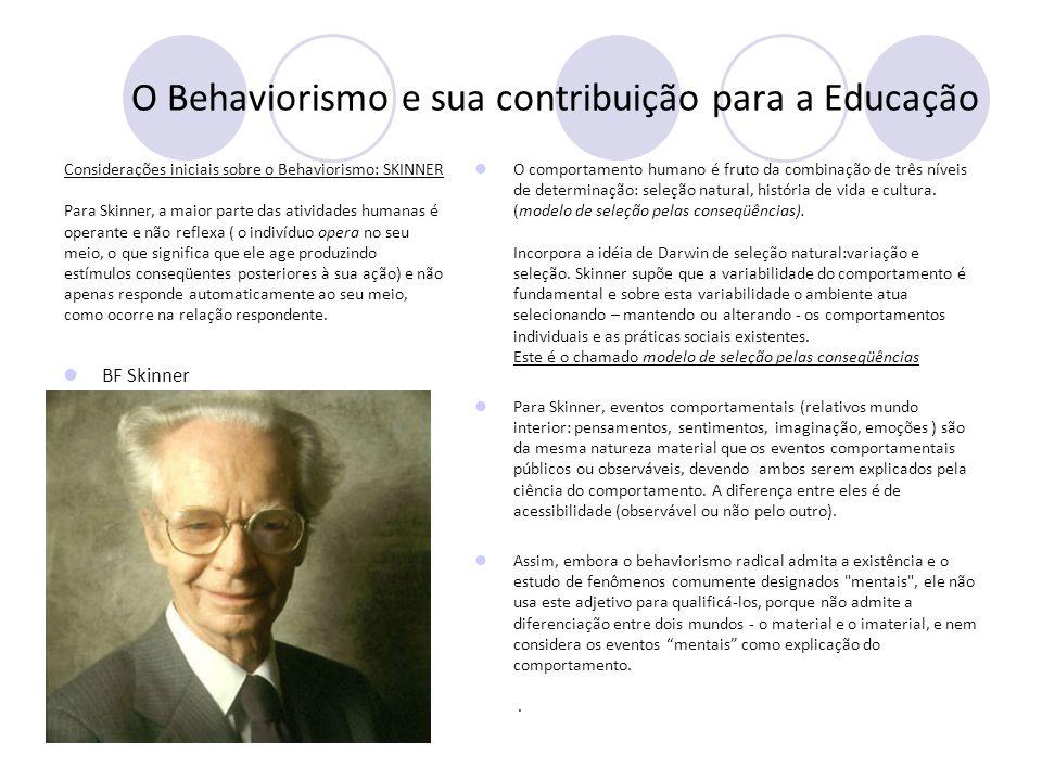 O Behaviorismo e sua contribuição para a Educação