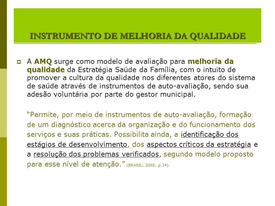 INSTRUMENTO DE MELHORIA DA QUALIDADE