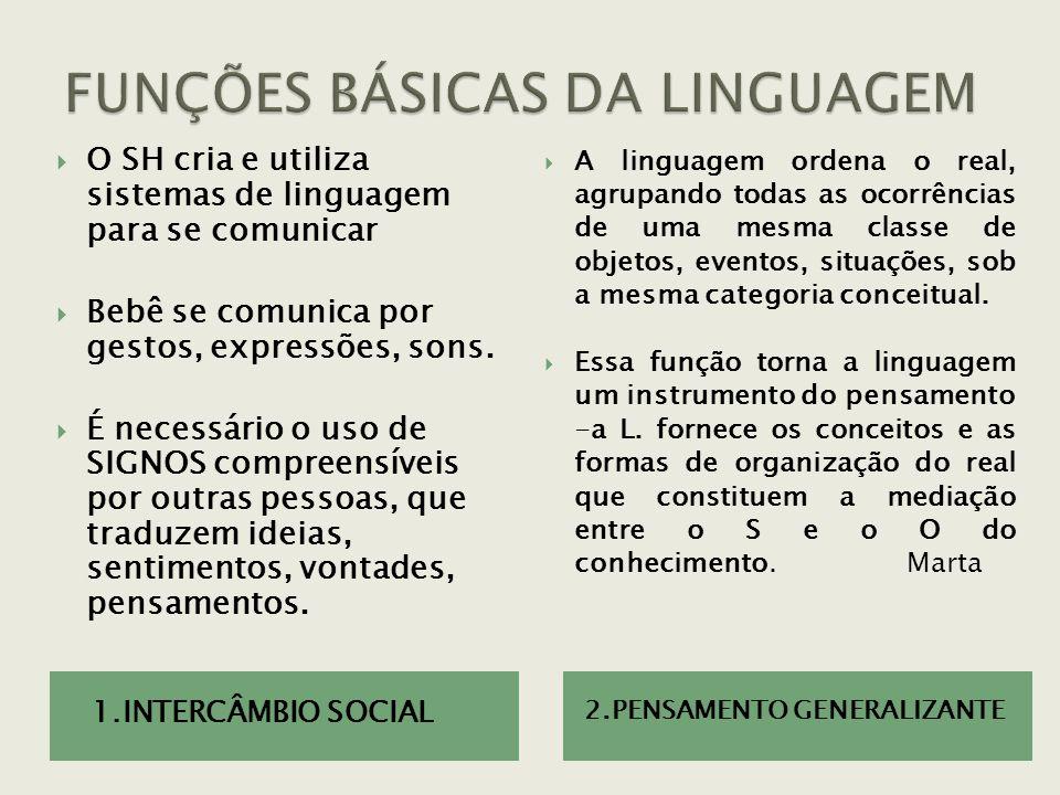 FUNÇÕES BÁSICAS DA LINGUAGEM