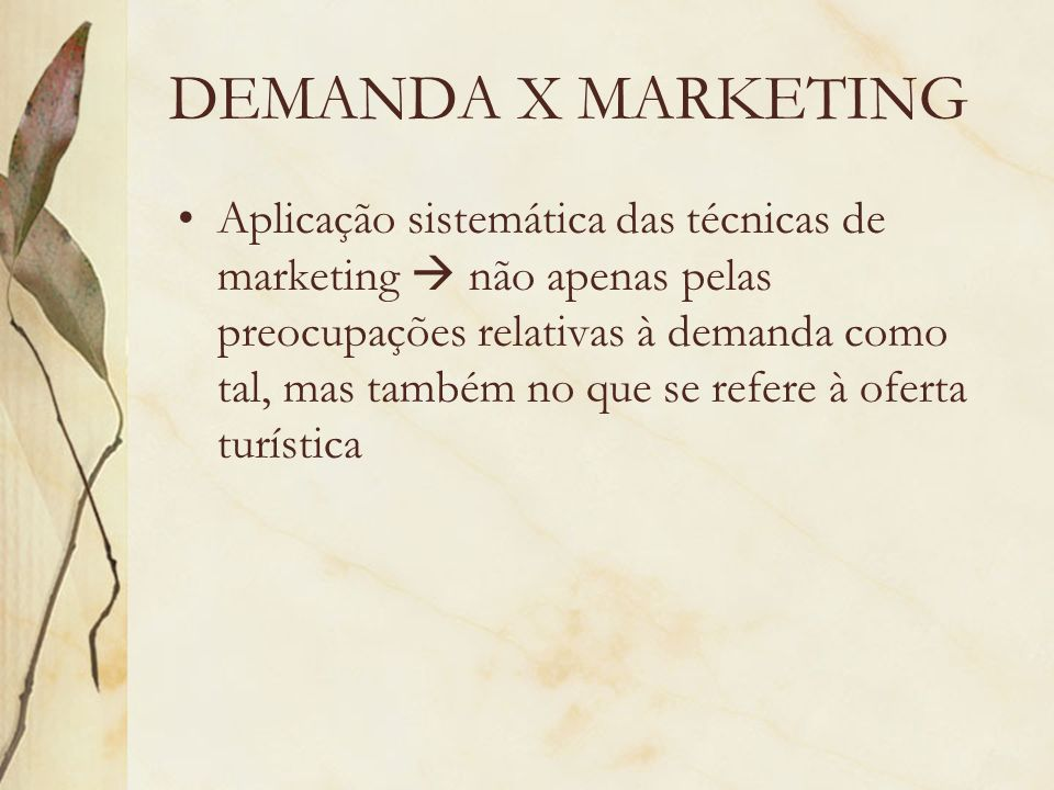 DEMANDA X MARKETING