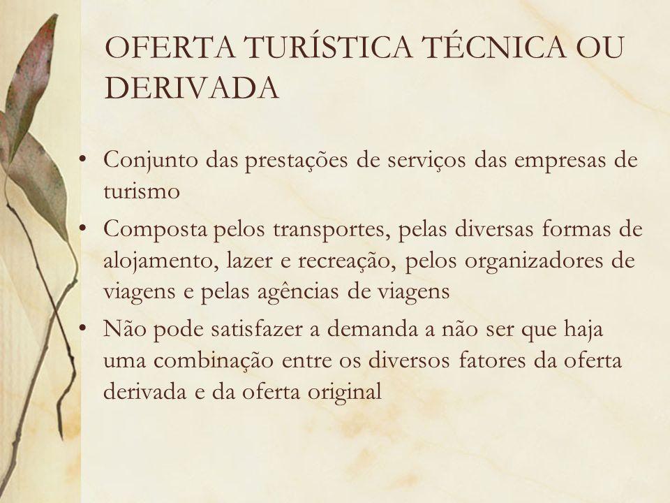 OFERTA TURÍSTICA TÉCNICA OU DERIVADA