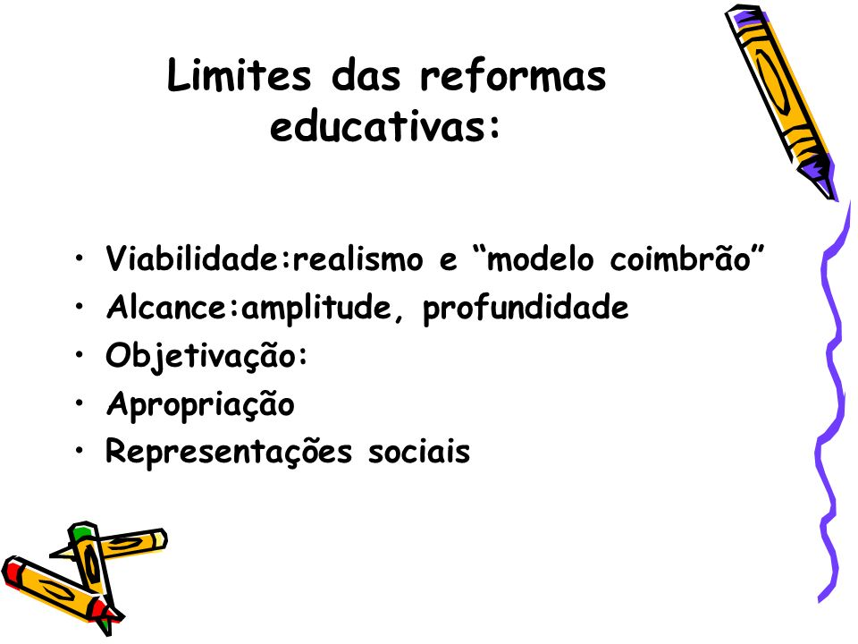 Limites das reformas educativas: