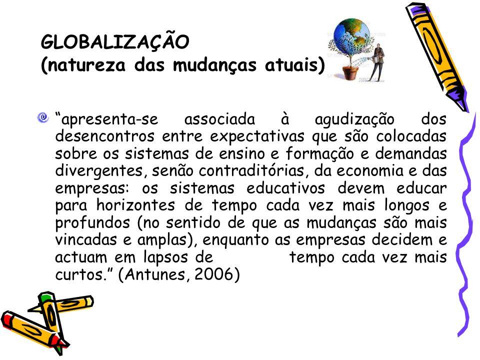 GLOBALIZAÇÃO (natureza das mudanças atuais)