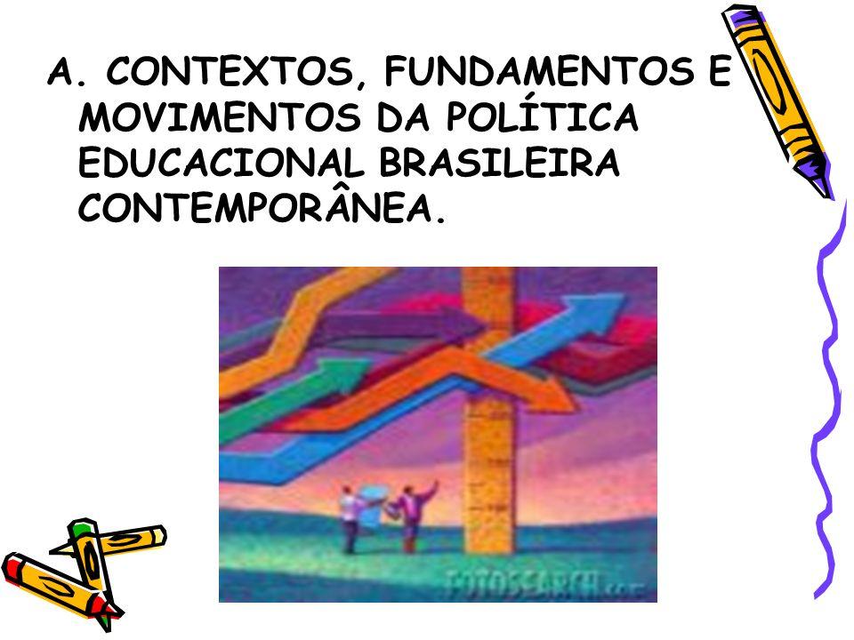 A. CONTEXTOS, FUNDAMENTOS E MOVIMENTOS DA POLÍTICA EDUCACIONAL BRASILEIRA CONTEMPORÂNEA.