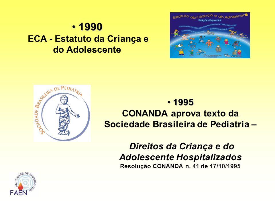 1990 1995 CONANDA aprova texto da Sociedade Brasileira de Pediatria –