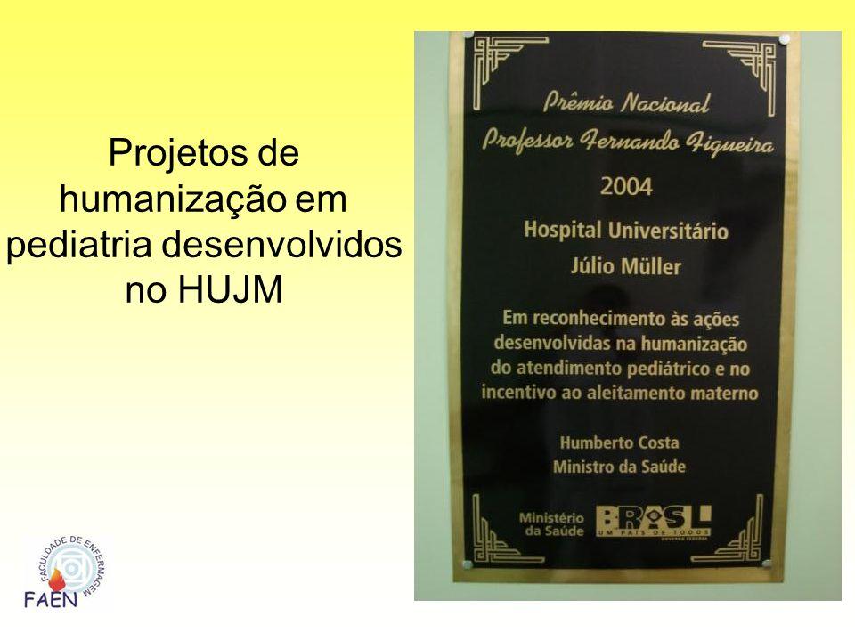 Projetos de humanização em pediatria desenvolvidos no HUJM