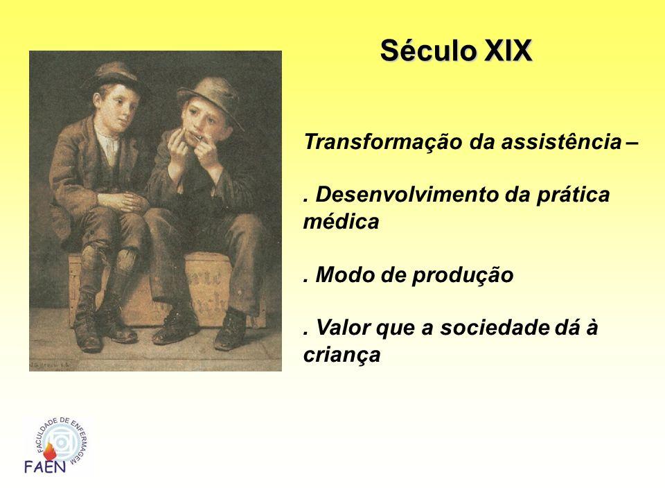 Século XIX Transformação da assistência –