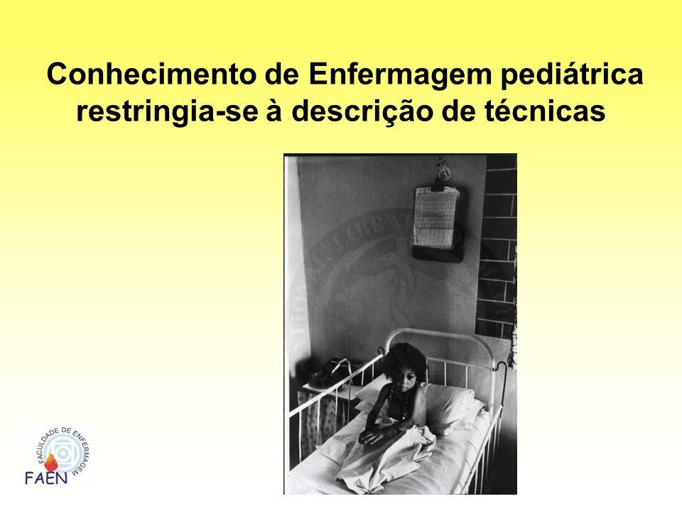 Conhecimento de Enfermagem pediátrica restringia-se à descrição de técnicas