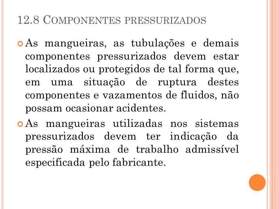 12.8 Componentes pressurizados