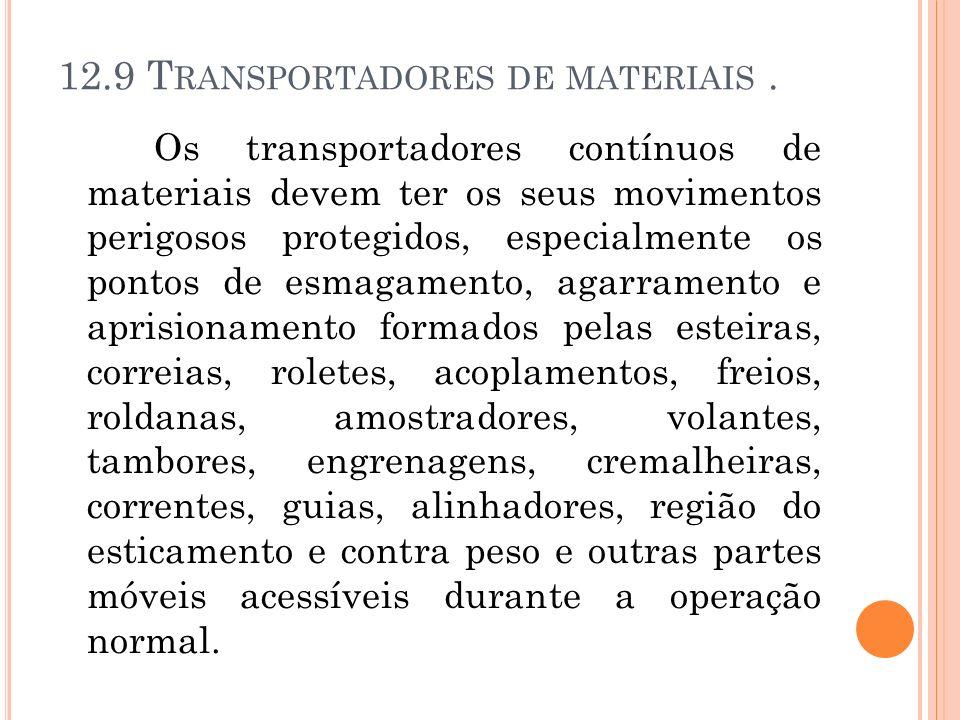 12.9 Transportadores de materiais .