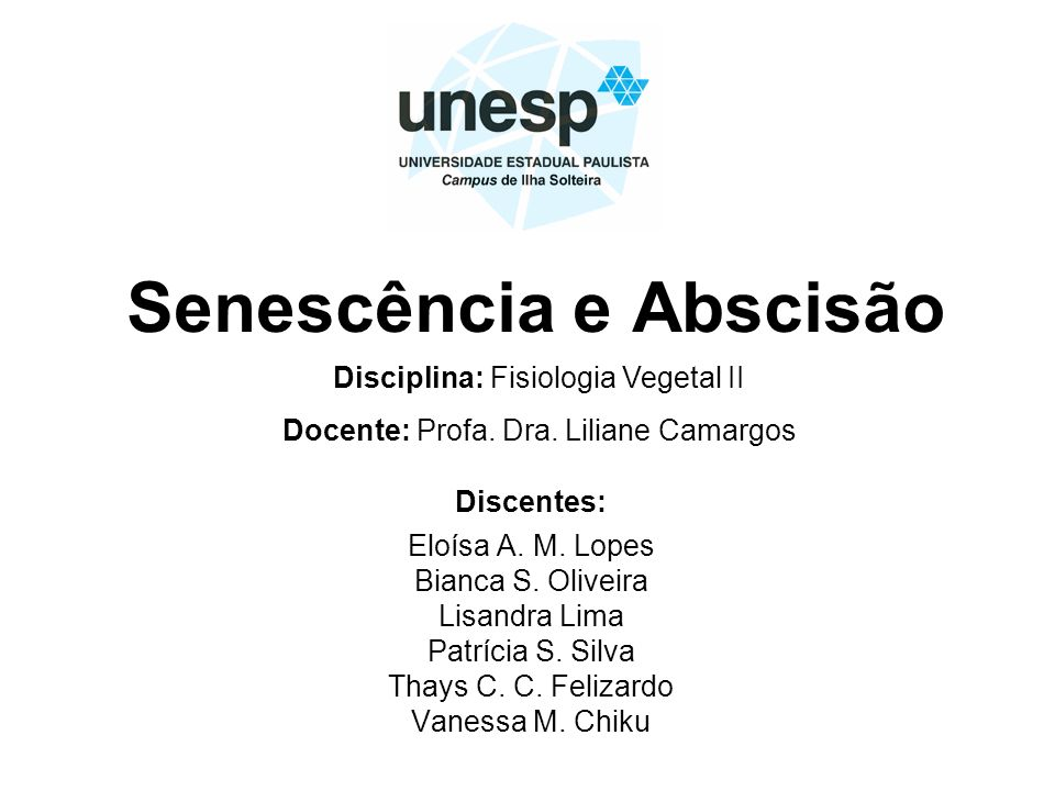 Senescência e Abscisão