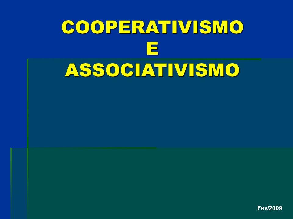 COOPERATIVISMO E ASSOCIATIVISMO