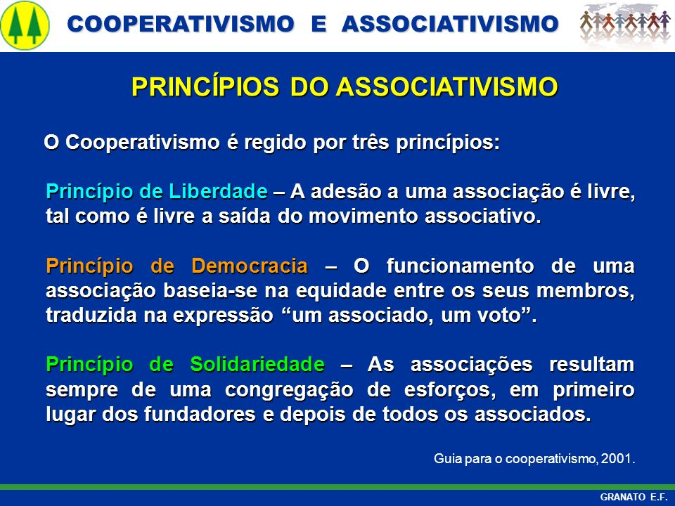PRINCÍPIOS DO ASSOCIATIVISMO