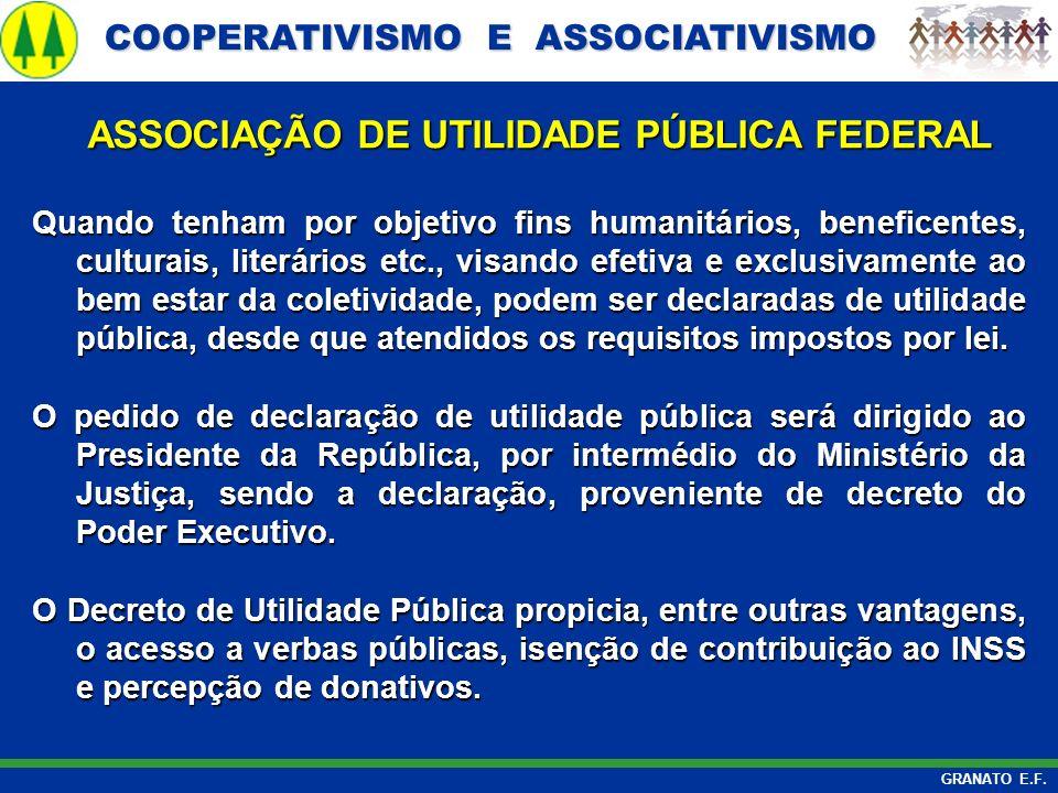 ASSOCIAÇÃO DE UTILIDADE PÚBLICA FEDERAL