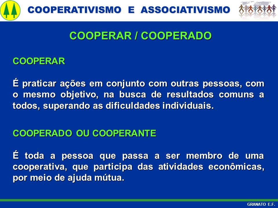 COOPERAR / COOPERADO COOPERAR