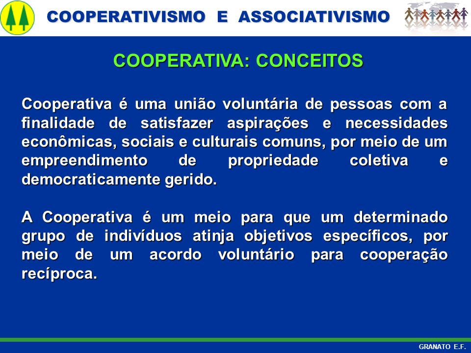 COOPERATIVA: CONCEITOS