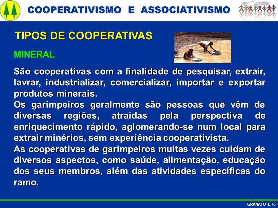 TIPOS DE COOPERATIVAS MINERAL