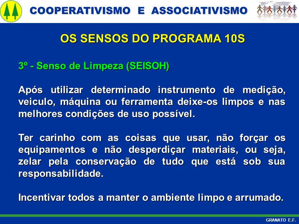 OS SENSOS DO PROGRAMA 10S 3º - Senso de Limpeza (SEISOH)