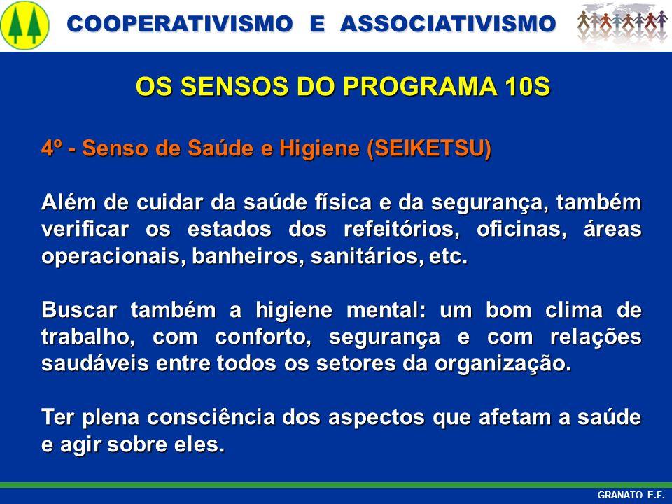 OS SENSOS DO PROGRAMA 10S 4º - Senso de Saúde e Higiene (SEIKETSU)