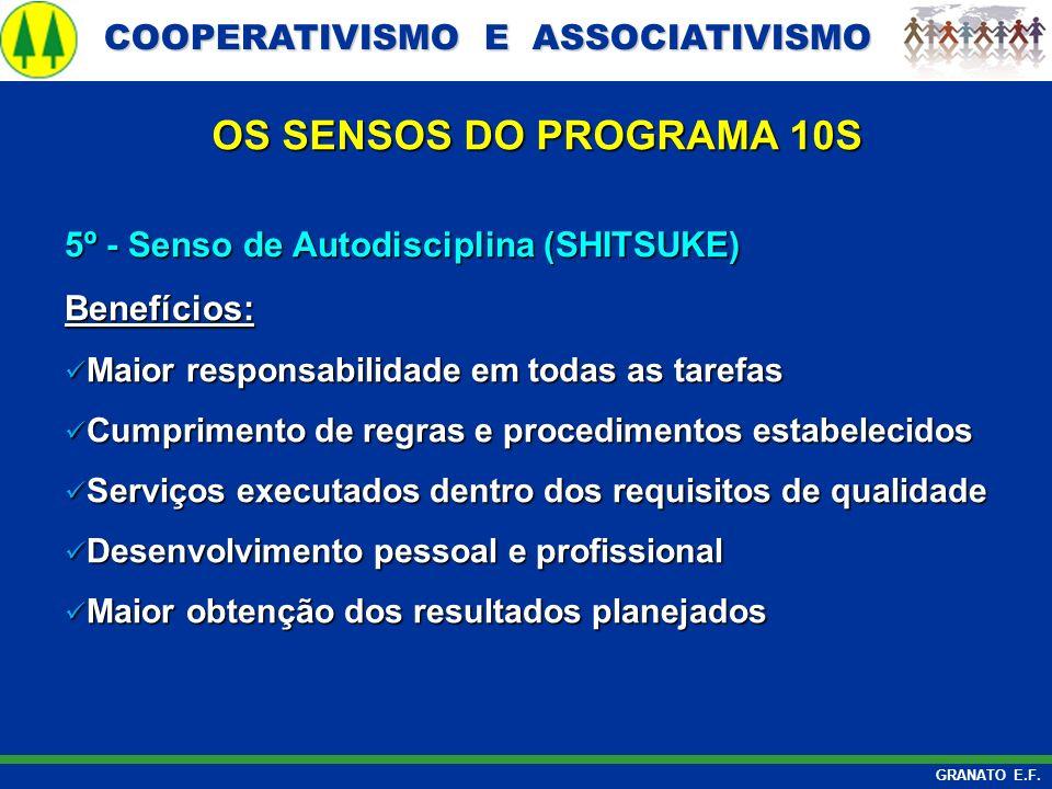 OS SENSOS DO PROGRAMA 10S 5º - Senso de Autodisciplina (SHITSUKE)