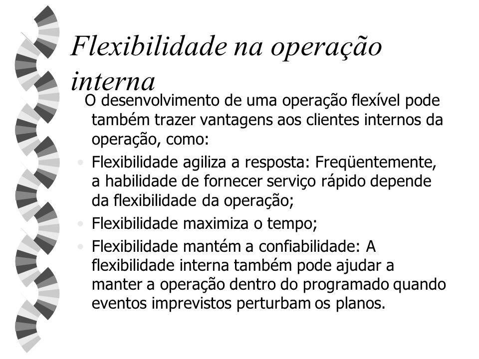Flexibilidade na operação interna