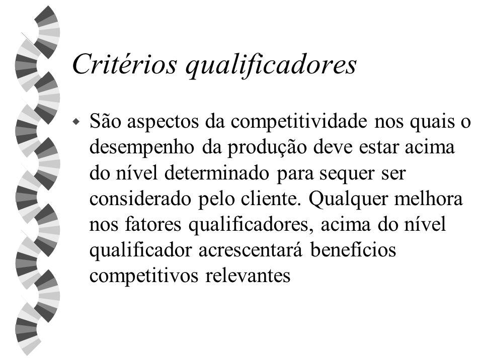 Critérios qualificadores