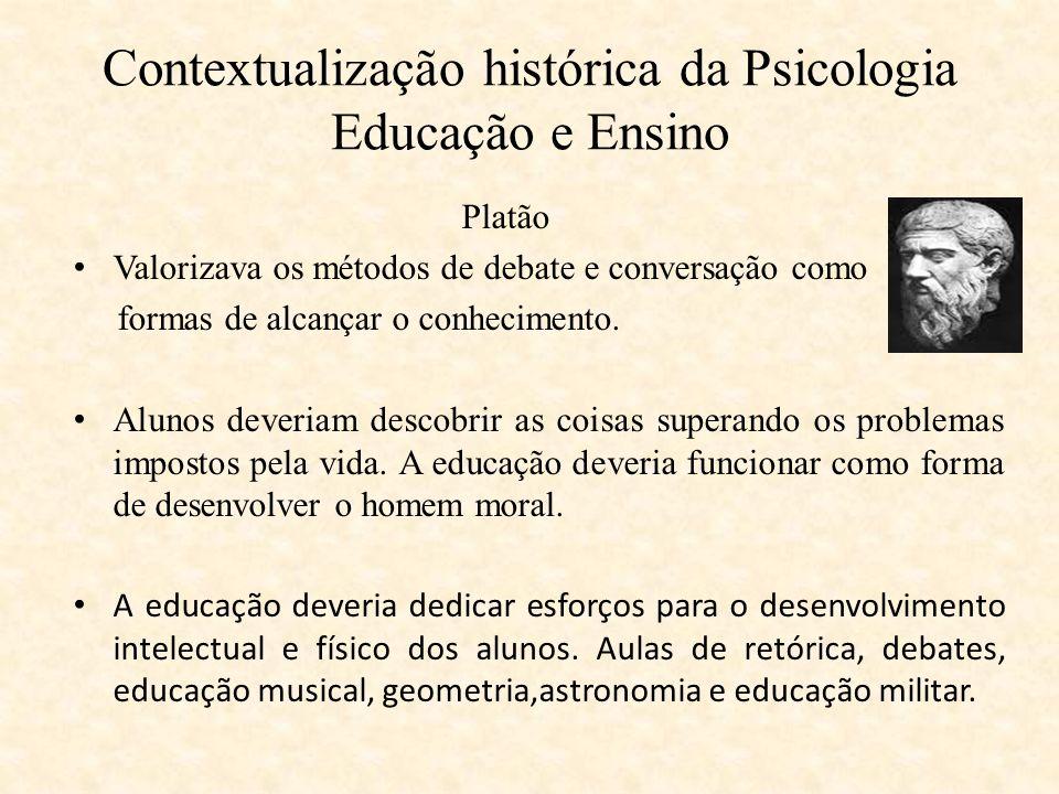 Contextualização histórica da Psicologia Educação e Ensino