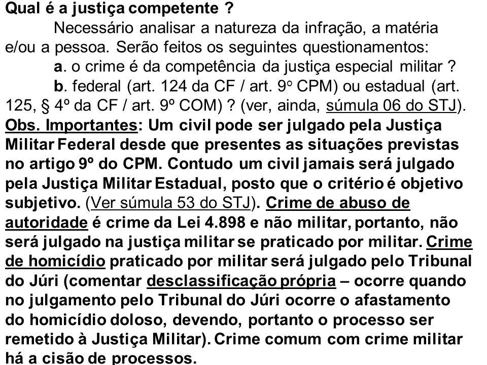 Qual é a justiça competente