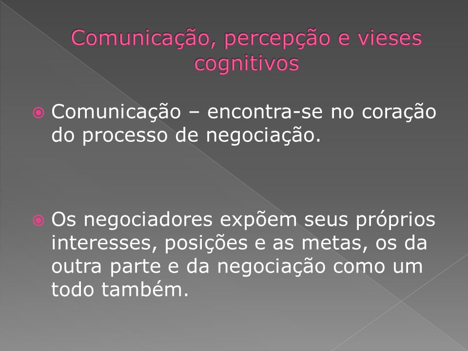 Comunicação, percepção e vieses cognitivos