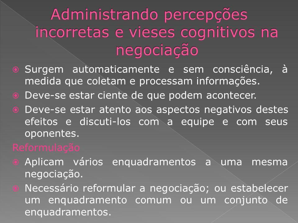 Administrando percepções incorretas e vieses cognitivos na negociação