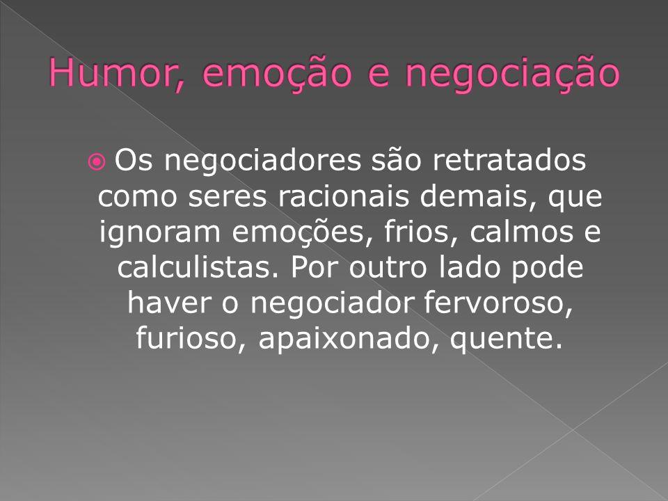 Humor, emoção e negociação