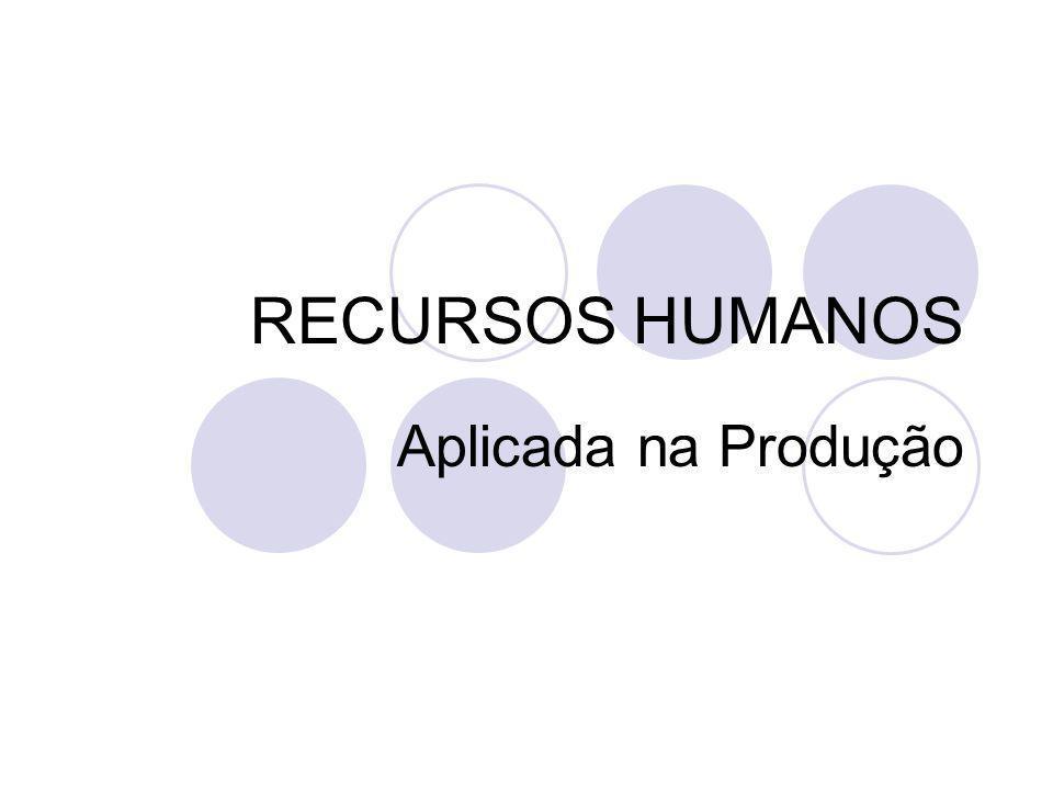 RECURSOS HUMANOS Aplicada na Produção