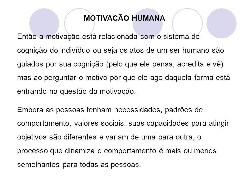 MOTIVAÇÃO HUMANA