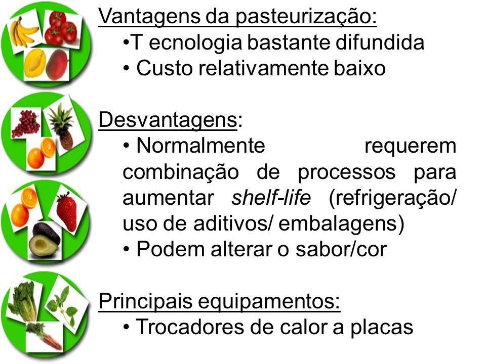 Vantagens da pasteurização: