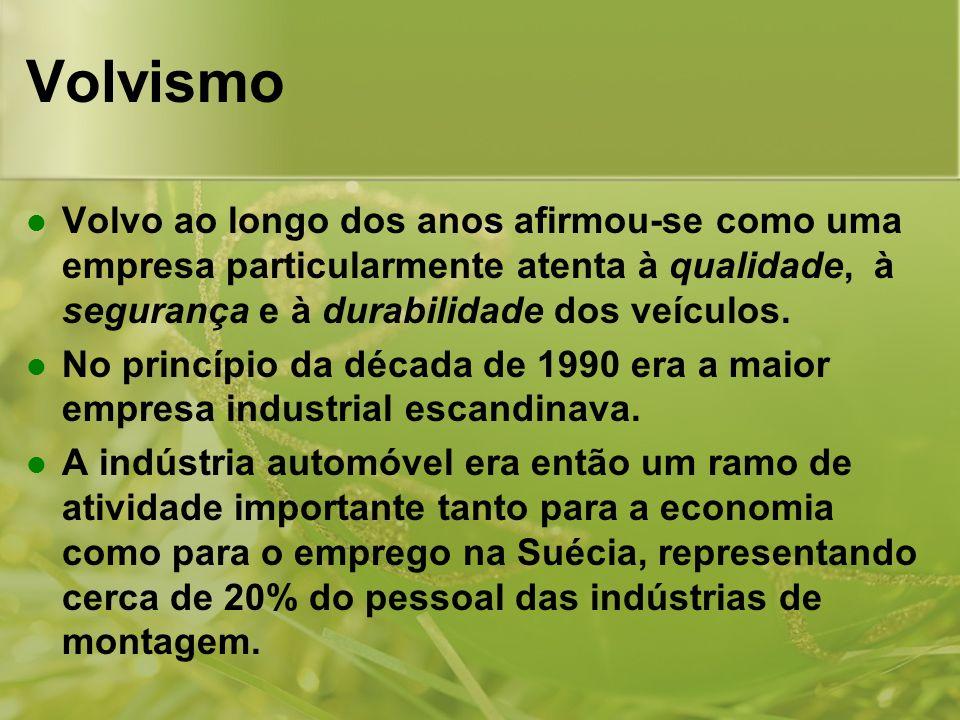 Volvismo Volvo ao longo dos anos afirmou-se como uma empresa particularmente atenta à qualidade, à segurança e à durabilidade dos veículos.