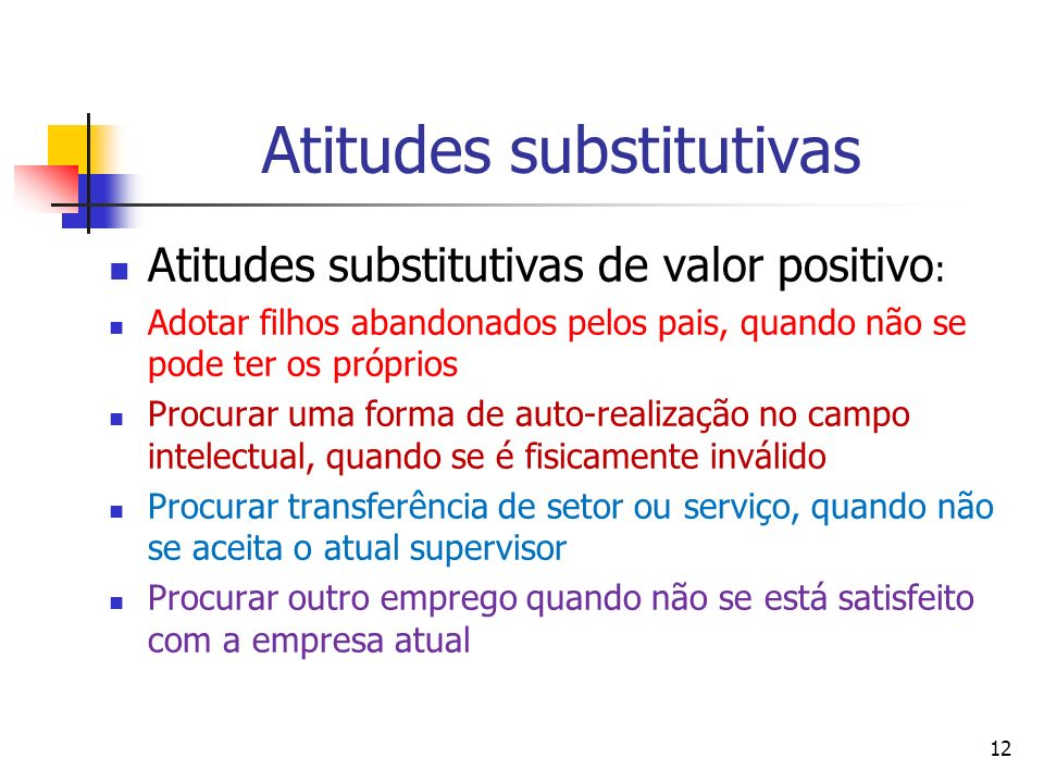 Atitudes substitutivas